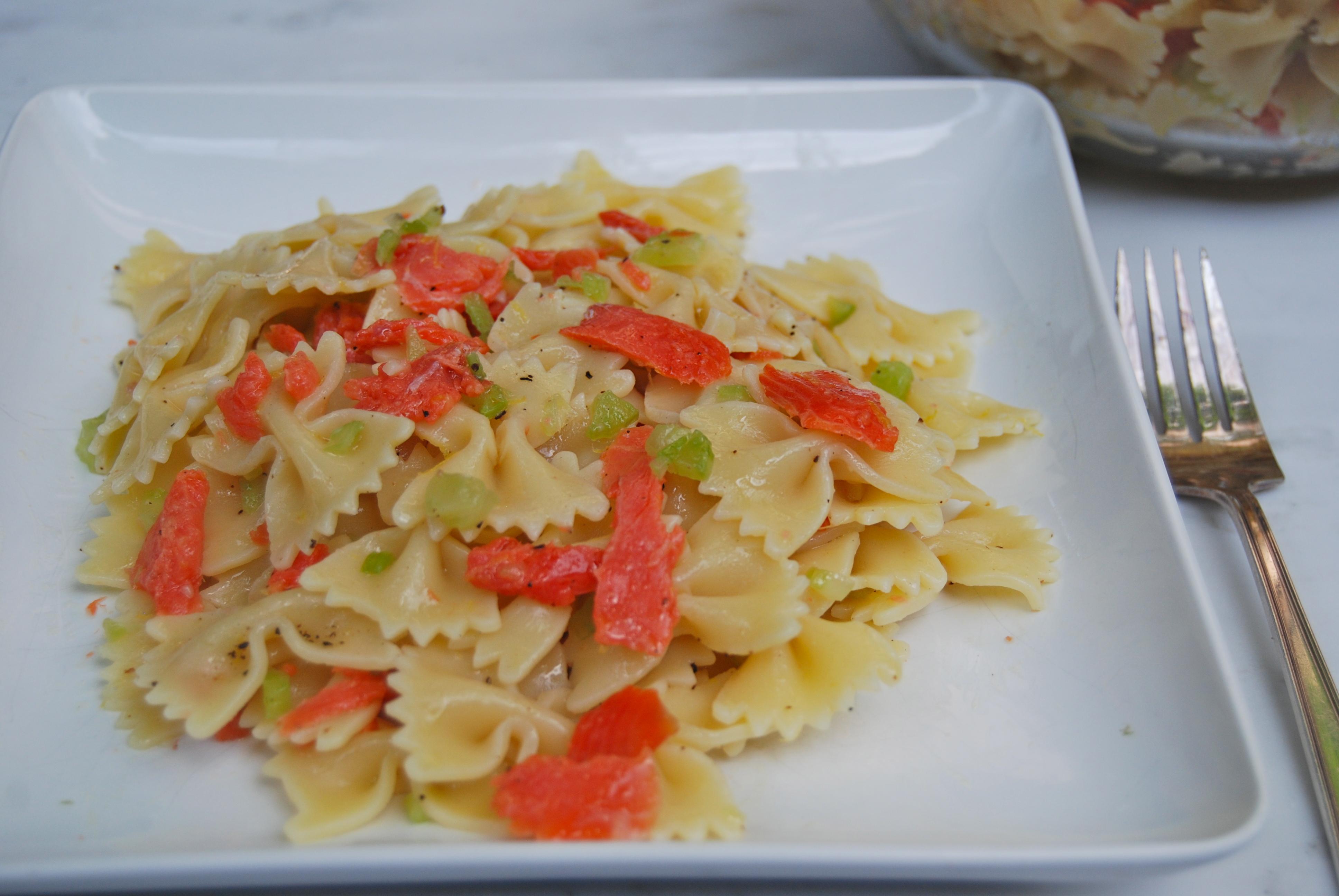 Smoked Salmon Pasta Salad Recipe — Dishmaps