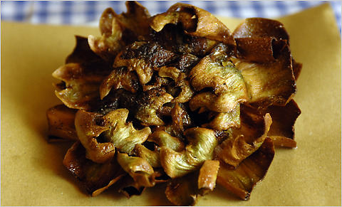 Photo from http://intransit.blogs.nytimes.com/2010/03/05/in-season-and-delicious-artichokes-in-rome/