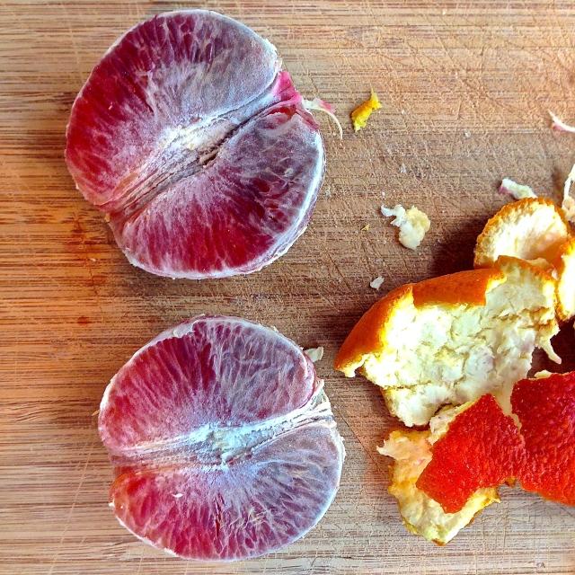 Insalata alle arance rosse, bufala e melogranato